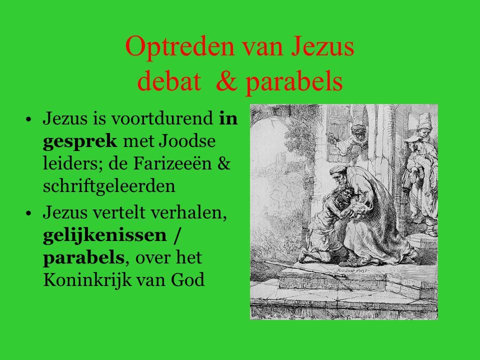 Optreden van Jezus debat & parabels