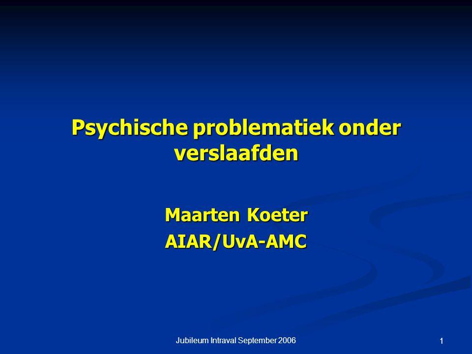 Psychische problematiek onder verslaafden