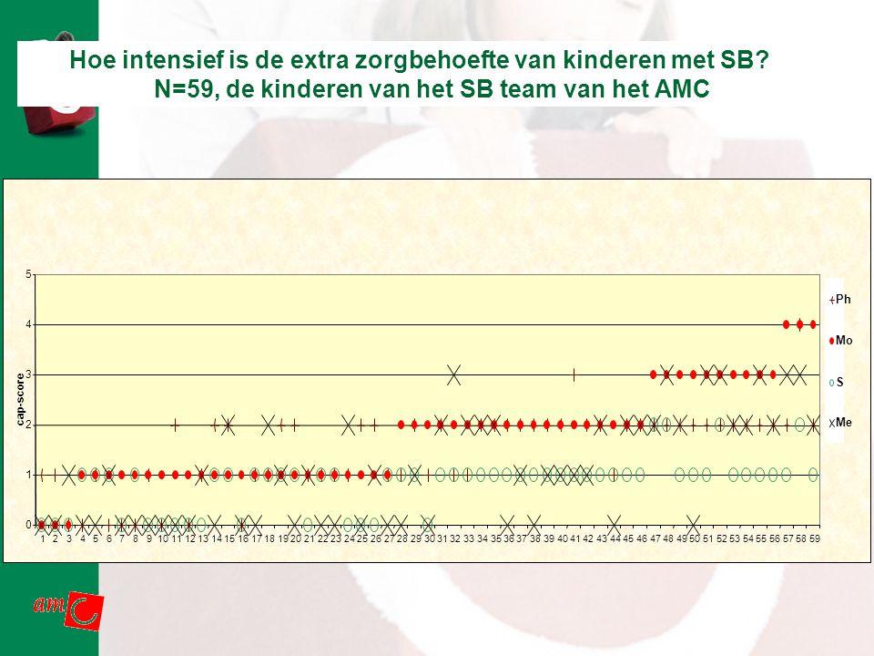 Hoe intensief is de extra zorgbehoefte van kinderen met SB