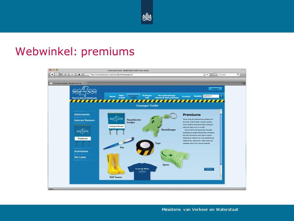 Webwinkel: premiums