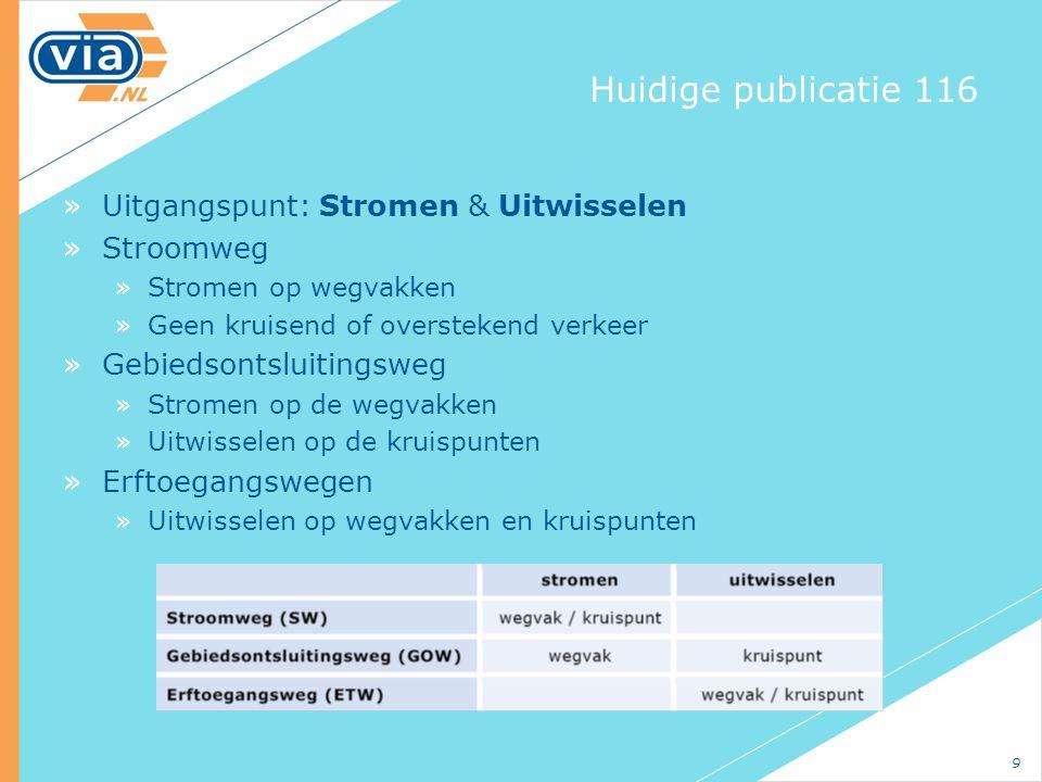 Huidige publicatie 116 Uitgangspunt: Stromen & Uitwisselen Stroomweg