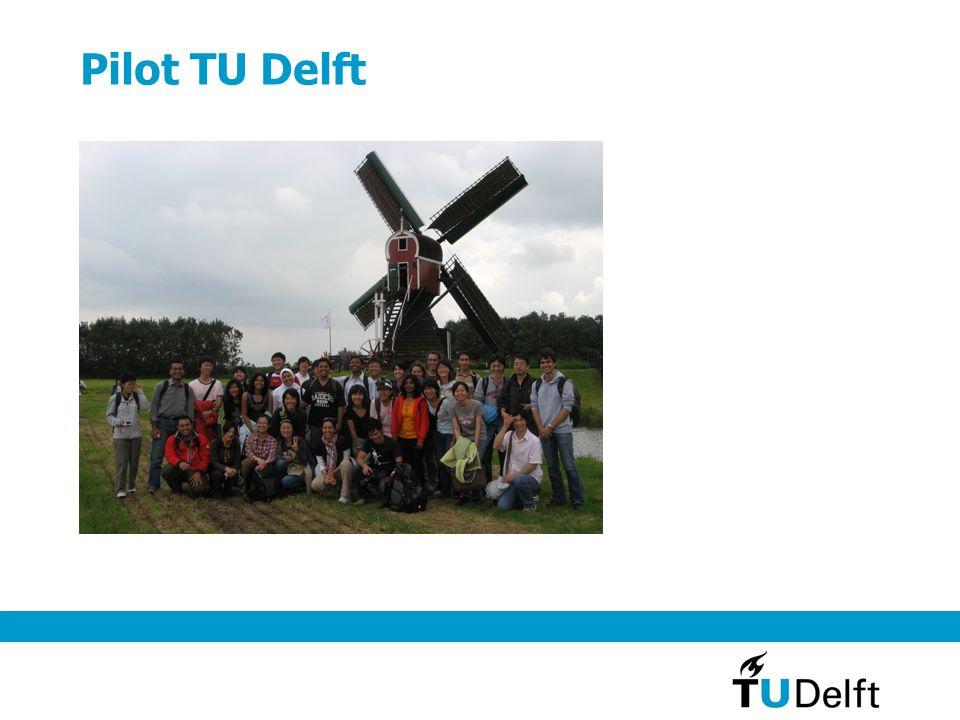 Pilot TU Delft Pilot levert op: Communities van buitenlandse studenten die zich voorbereiden op het studeren in NL.