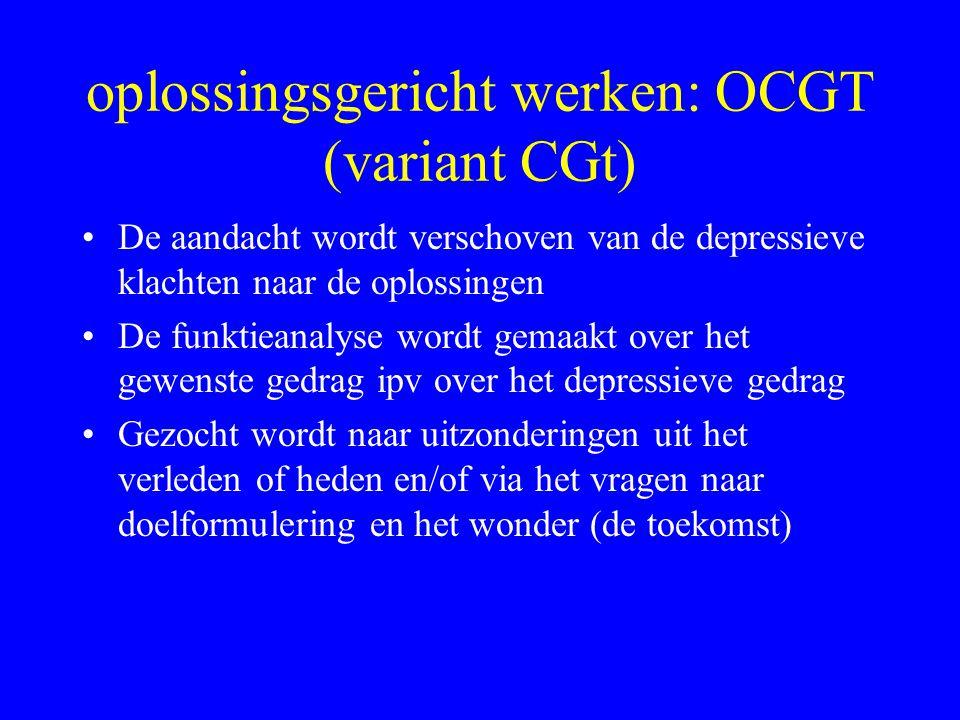 oplossingsgericht werken: OCGT (variant CGt)
