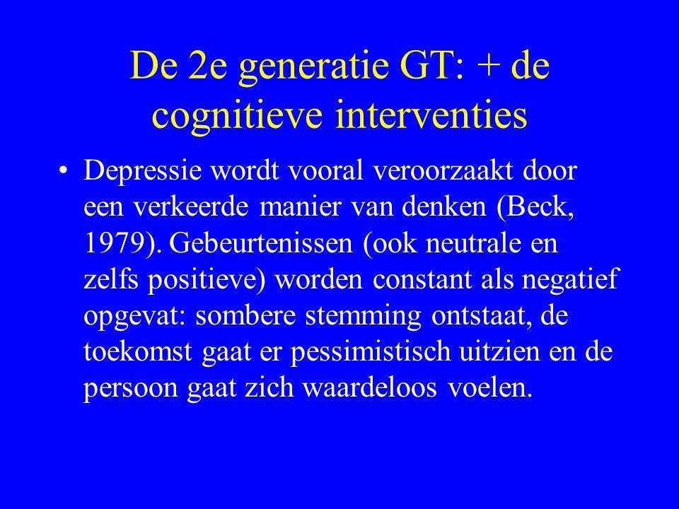 De 2e generatie GT: + de cognitieve interventies