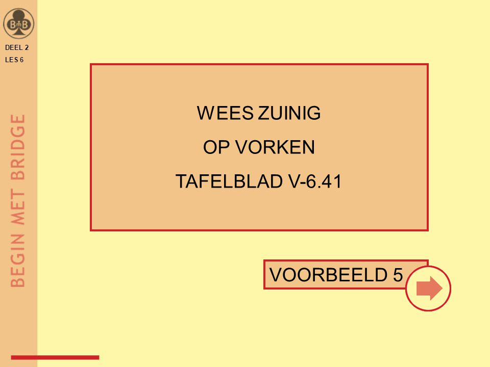 DEEL 2 LES 6 WEES ZUINIG OP VORKEN TAFELBLAD V-6.41 VOORBEELD 5