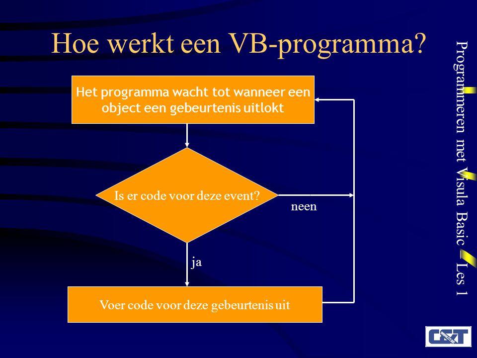 Hoe werkt een VB-programma