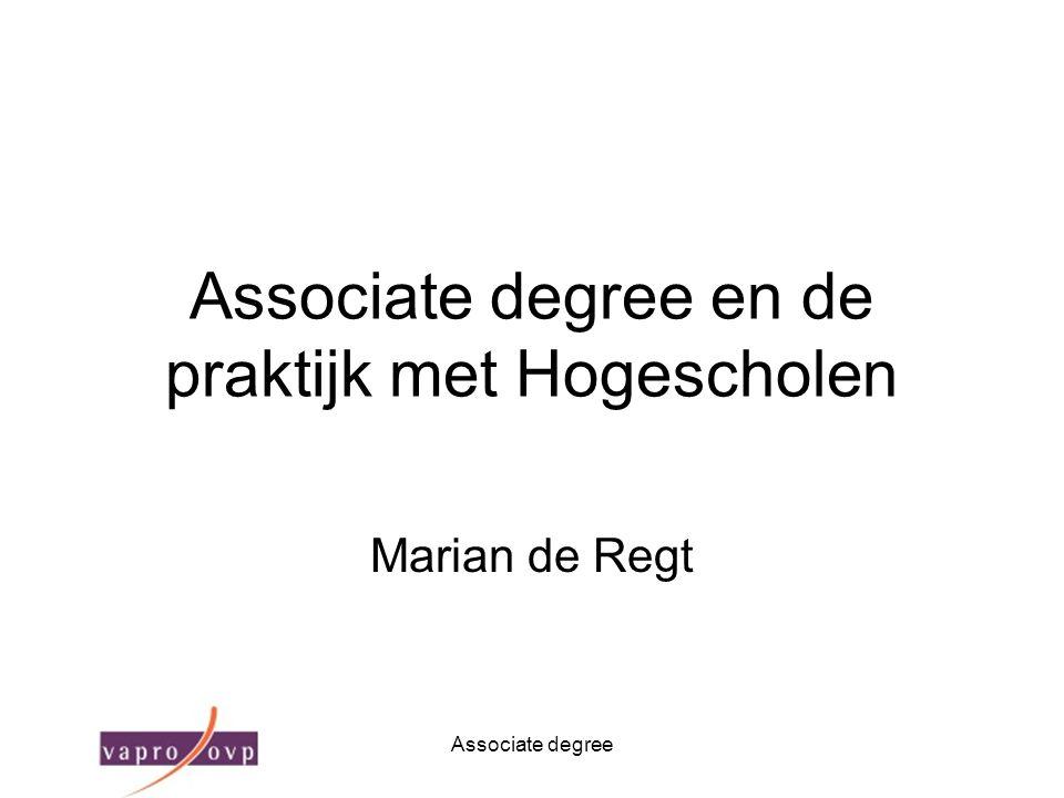 Associate degree en de praktijk met Hogescholen