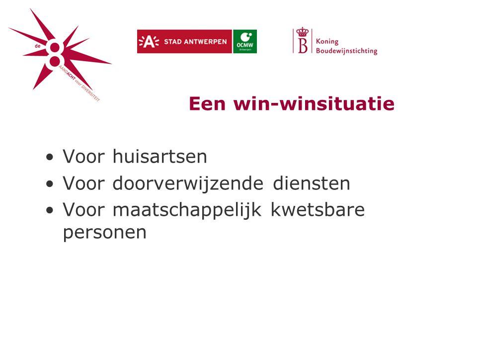 Een win-winsituatie Voor huisartsen. Voor doorverwijzende diensten.