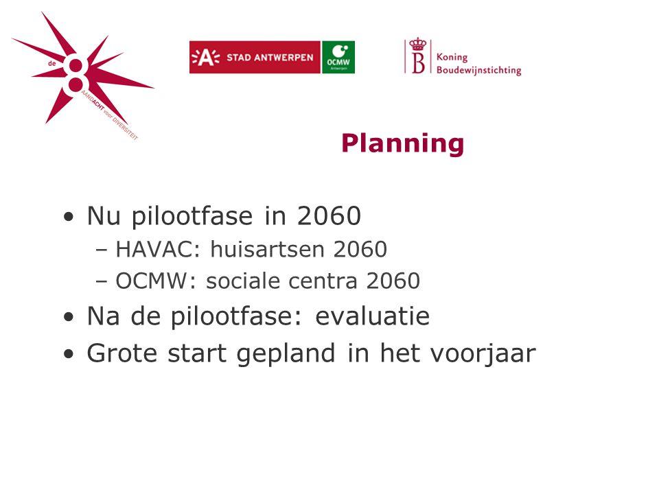 Na de pilootfase: evaluatie Grote start gepland in het voorjaar