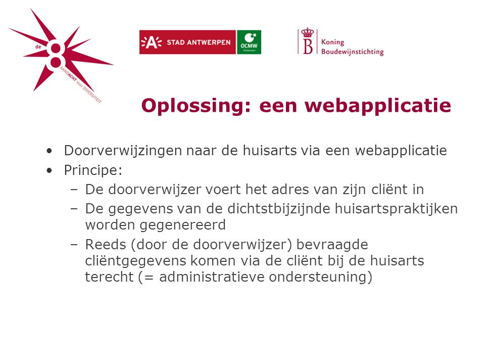 Oplossing: een webapplicatie