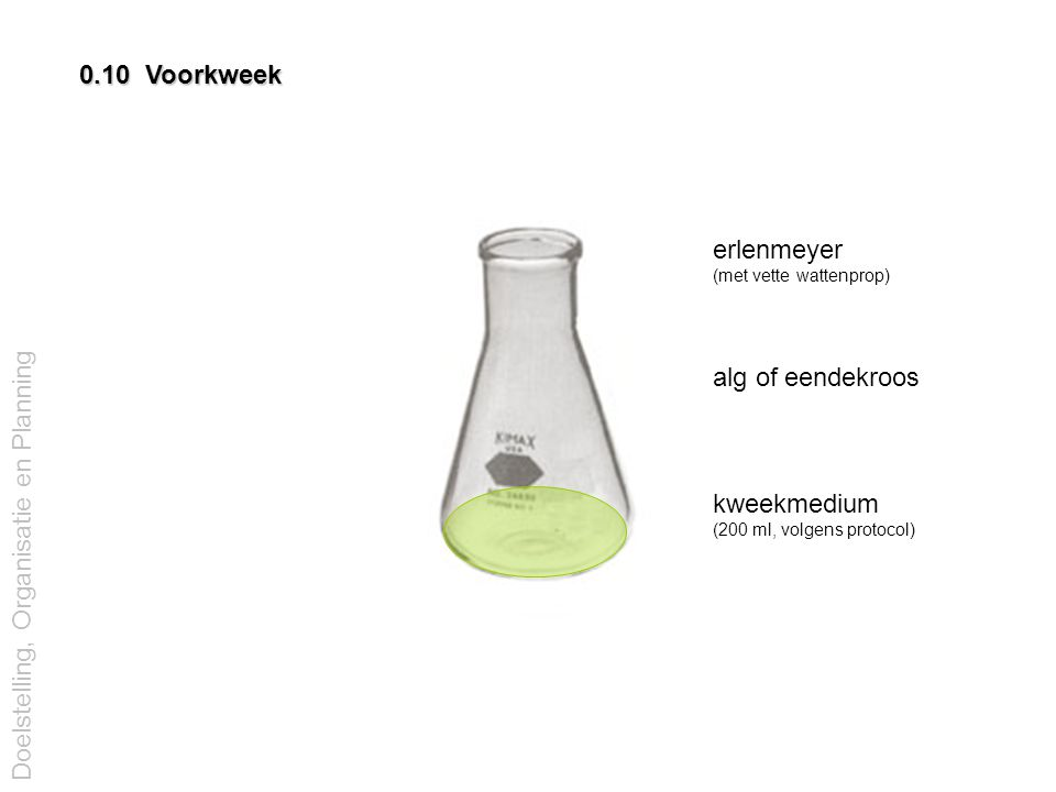 erlenmeyer (met vette wattenprop)