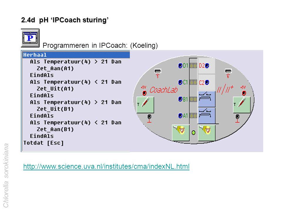 Programmeren in IPCoach: (Koeling)