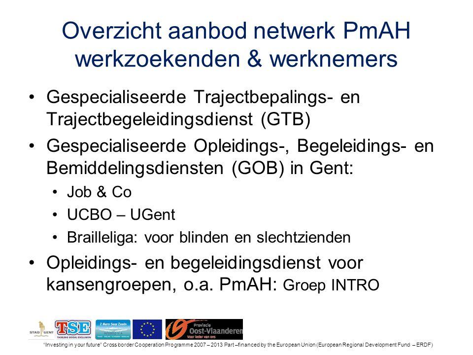 Overzicht aanbod netwerk PmAH werkzoekenden & werknemers
