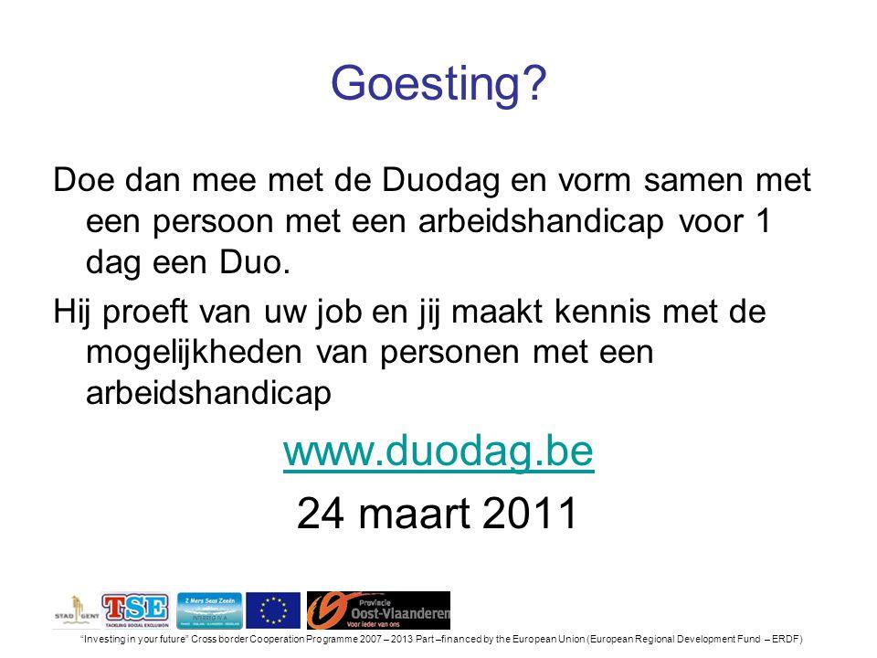 Goesting www.duodag.be 24 maart 2011