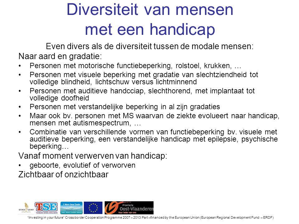 Diversiteit van mensen met een handicap