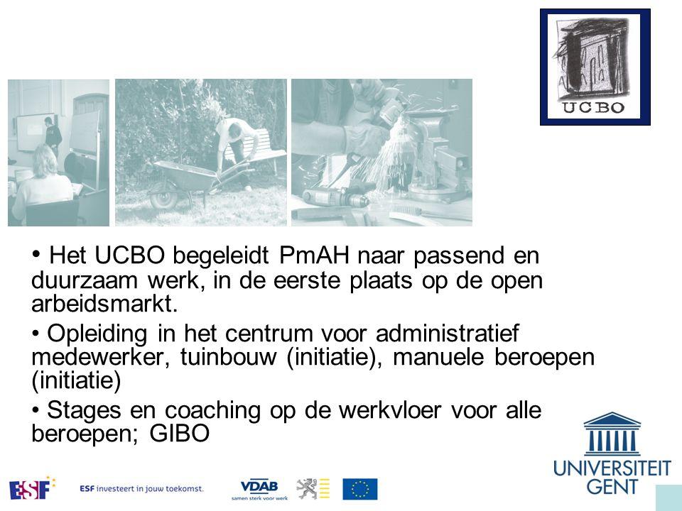 Het UCBO begeleidt PmAH naar passend en duurzaam werk, in de eerste plaats op de open arbeidsmarkt.