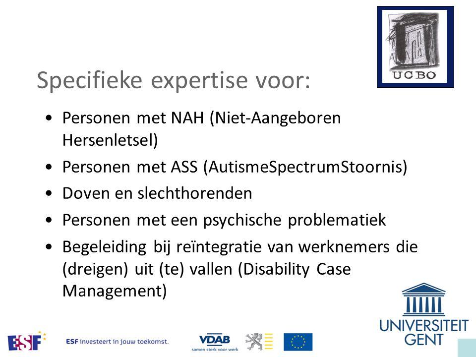 Specifieke expertise voor: