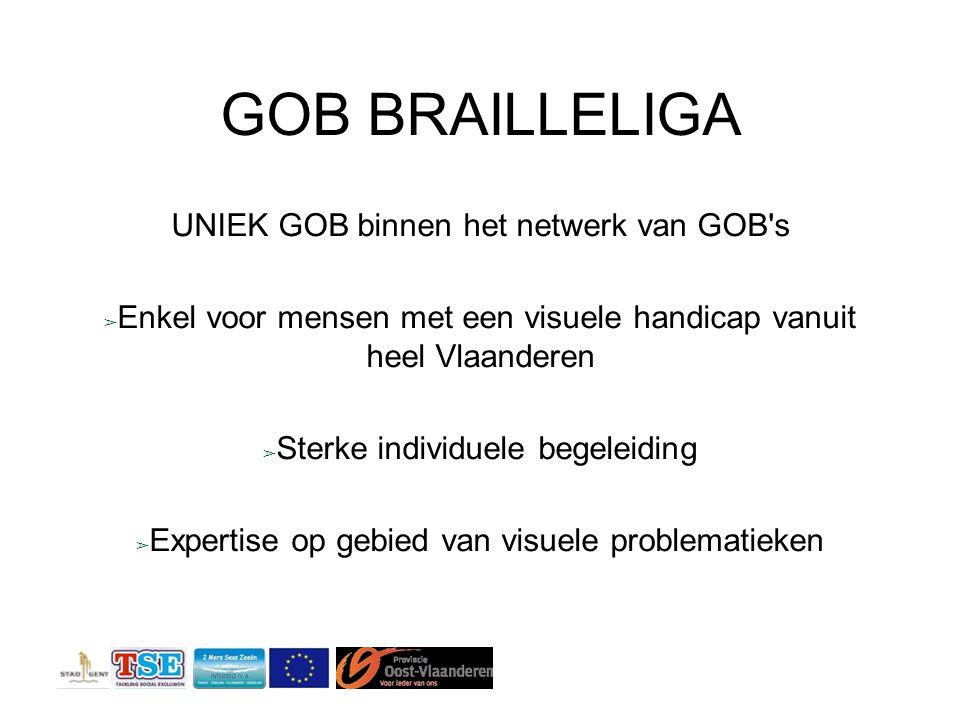 GOB BRAILLELIGA UNIEK GOB binnen het netwerk van GOB s