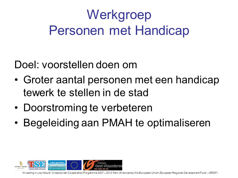 Werkgroep Personen met Handicap