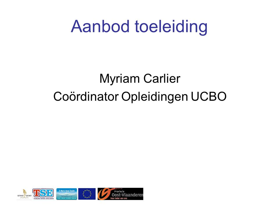 Coördinator Opleidingen UCBO