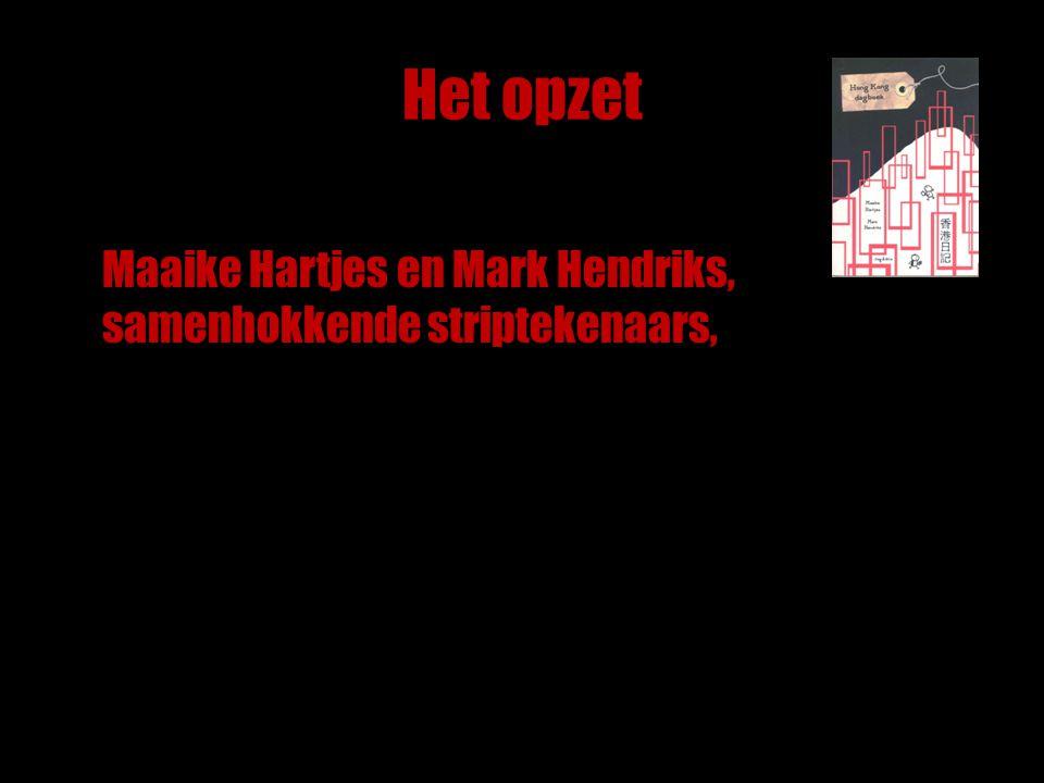 Het opzet Maaike Hartjes en Mark Hendriks, samenhokkende striptekenaars,