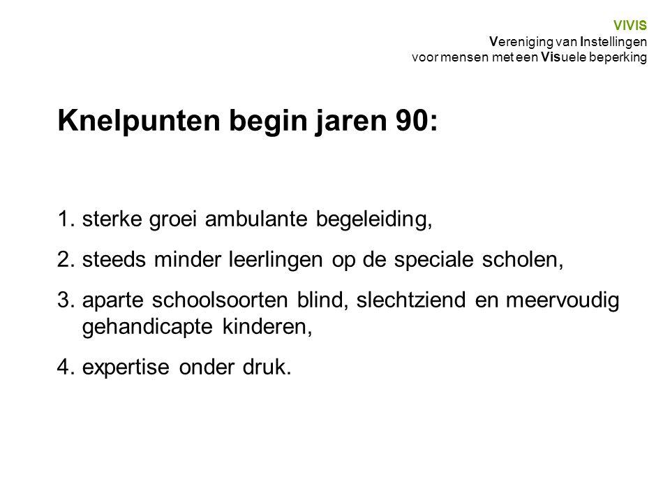 Knelpunten begin jaren 90: