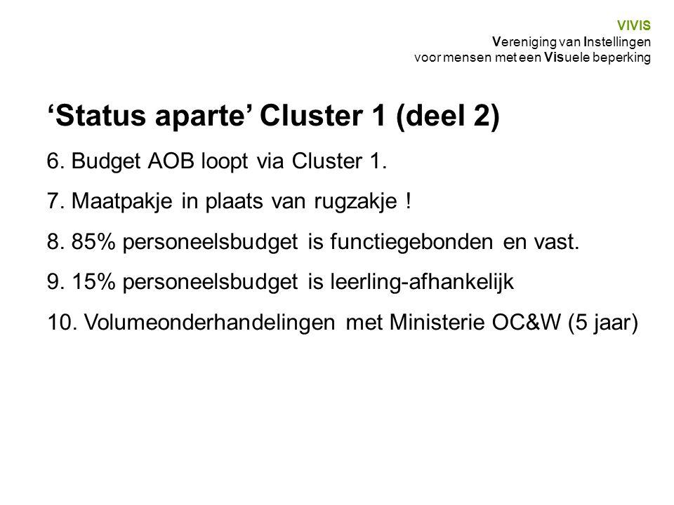 'Status aparte' Cluster 1 (deel 2)