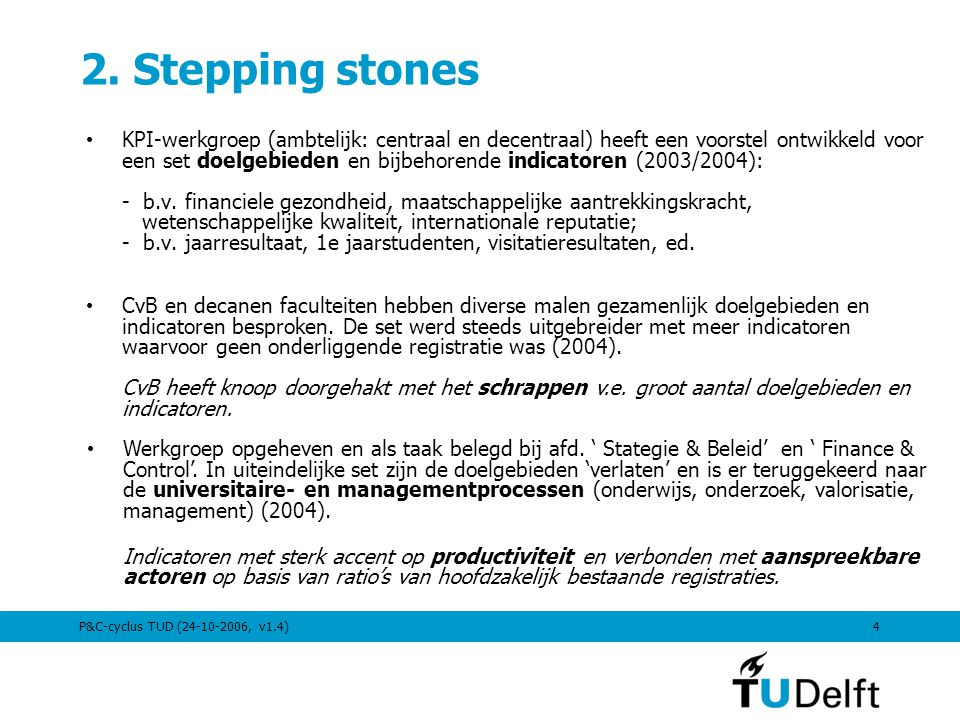 2. Stepping stones