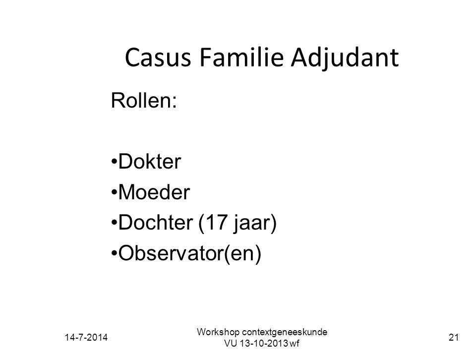 Casus Familie Adjudant
