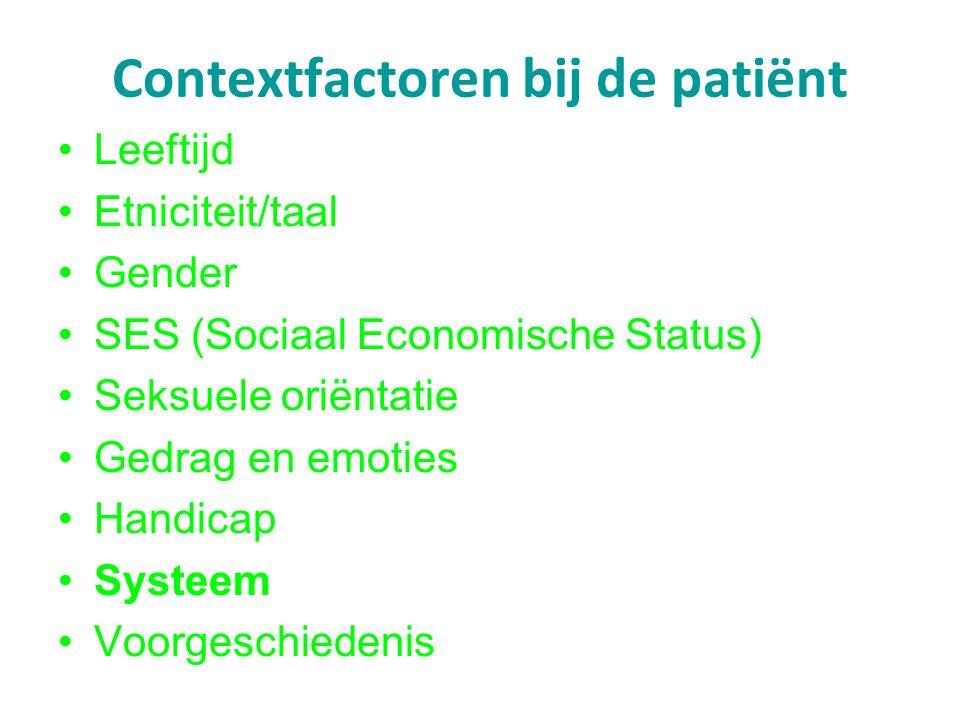 Contextfactoren bij de patiënt