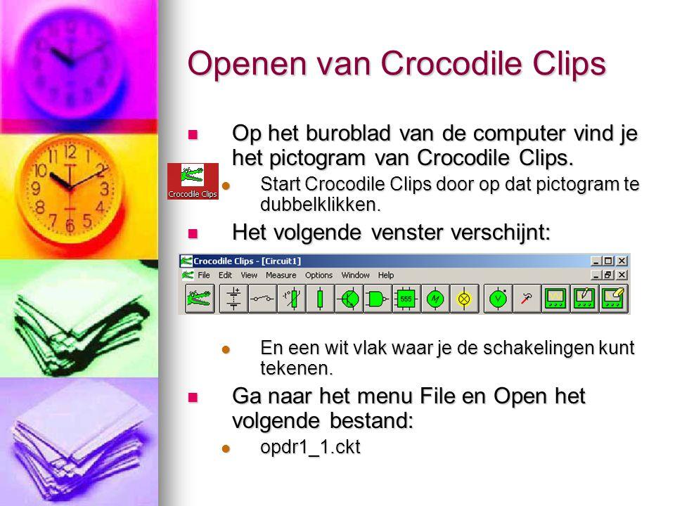Openen van Crocodile Clips