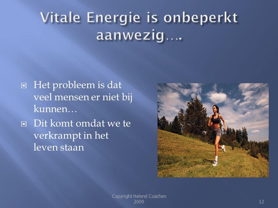 Vitale Energie is onbeperkt aanwezig….