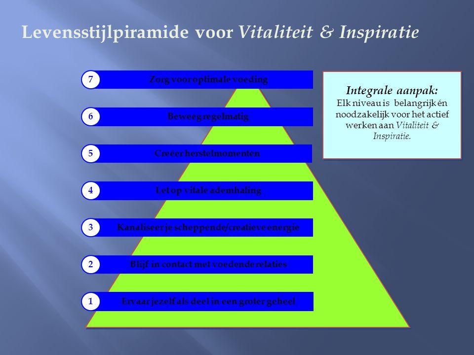 Levensstijlpiramide voor Vitaliteit & Inspiratie