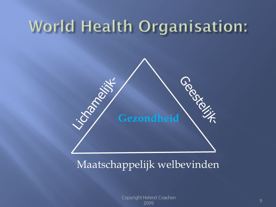 World Health Organisation: