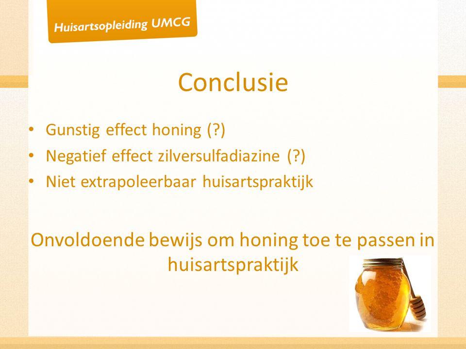 Onvoldoende bewijs om honing toe te passen in huisartspraktijk