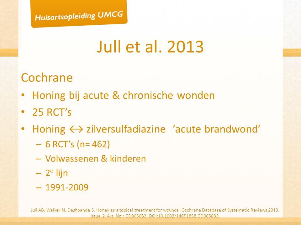 Jull et al. 2013 Cochrane Honing bij acute & chronische wonden