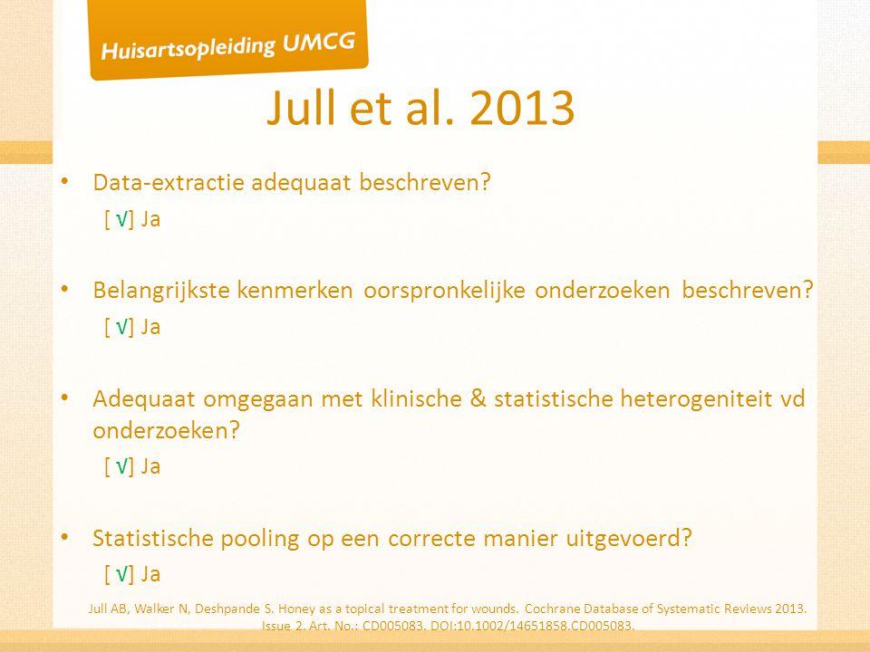 Jull et al. 2013 Data-extractie adequaat beschreven