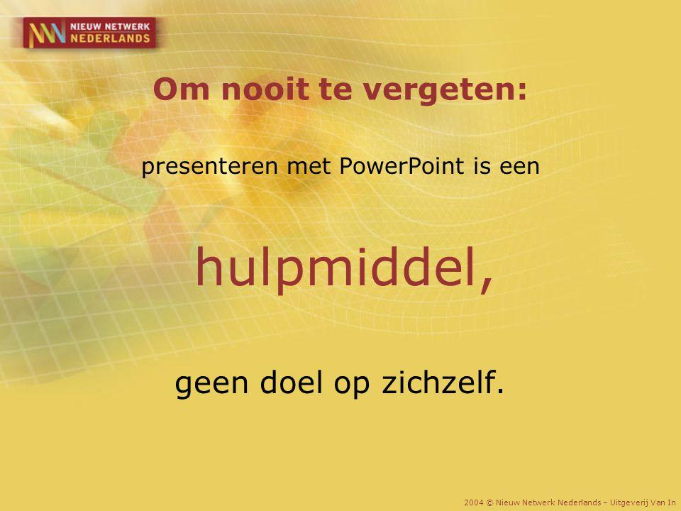 presenteren met PowerPoint is een