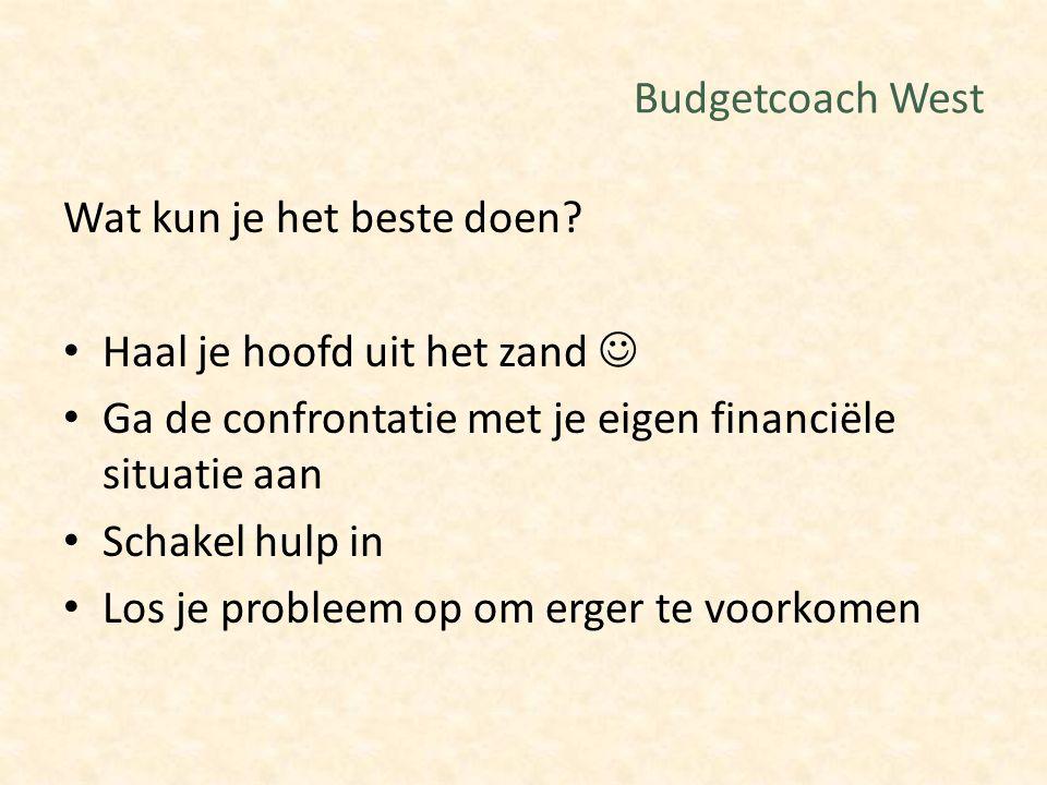 Budgetcoach West Wat kun je het beste doen Haal je hoofd uit het zand  Ga de confrontatie met je eigen financiële situatie aan.