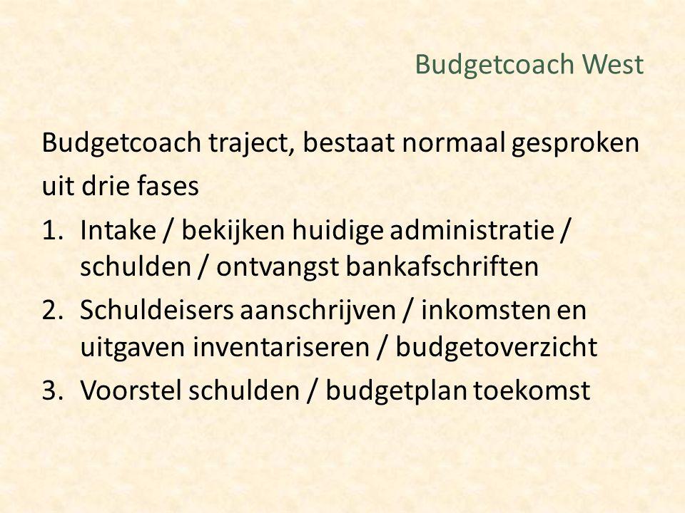 Budgetcoach West Budgetcoach traject, bestaat normaal gesproken. uit drie fases.