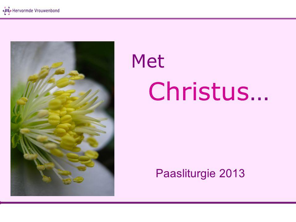 Met Christus… Paasliturgie 2013