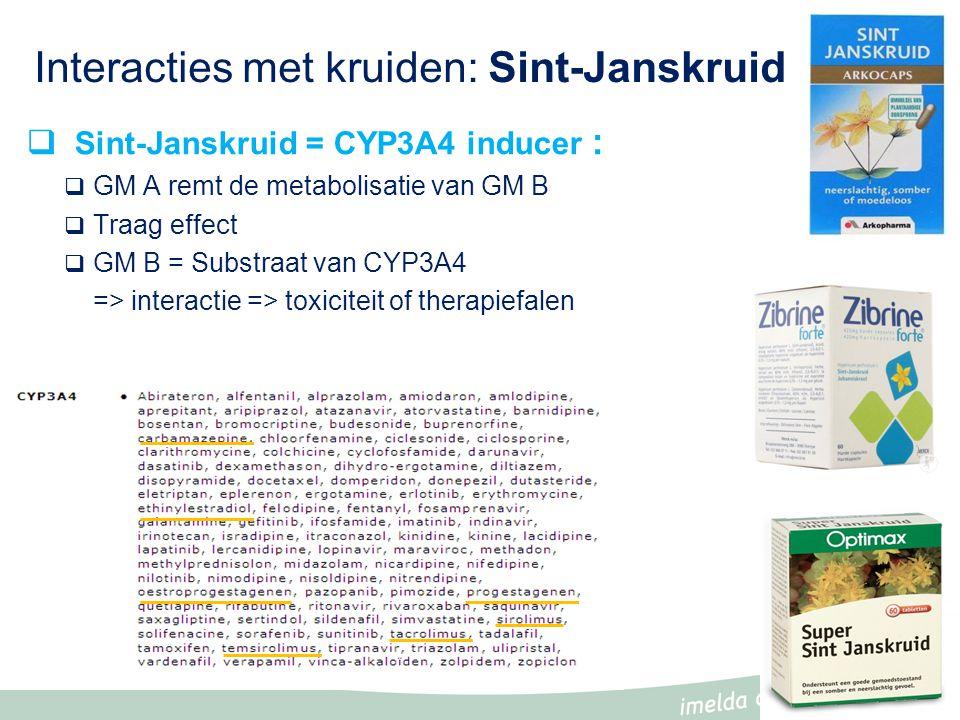 Interacties met kruiden: Sint-Janskruid