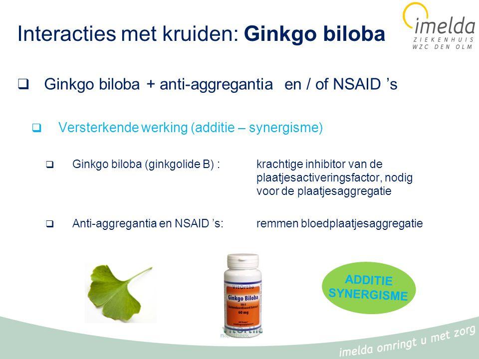 Interacties met kruiden: Ginkgo biloba