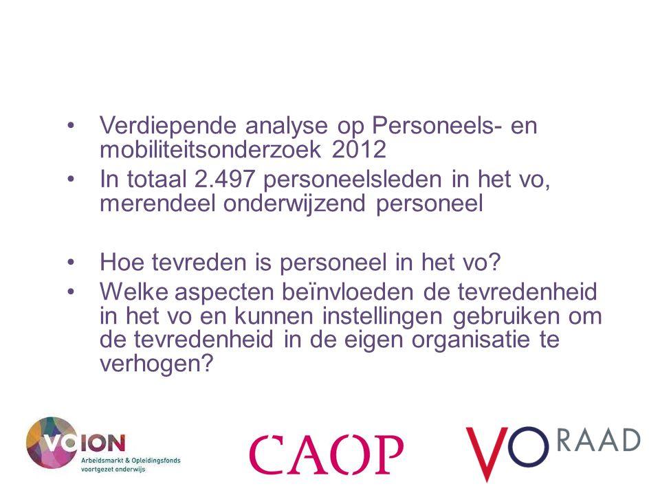 Verdiepende analyse op Personeels- en mobiliteitsonderzoek 2012