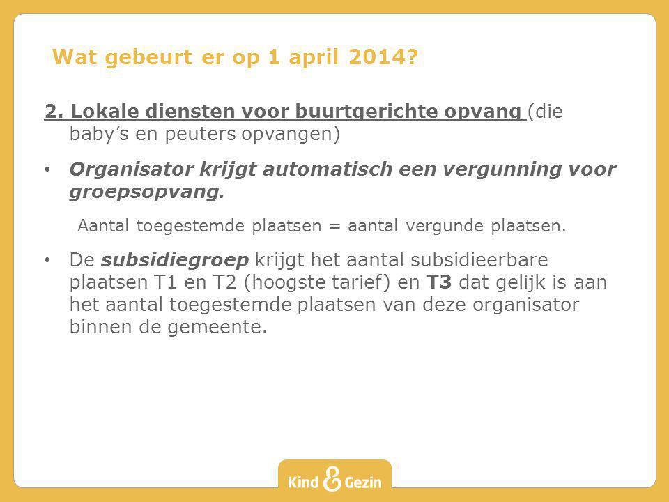 Wat gebeurt er op 1 april 2014 2. Lokale diensten voor buurtgerichte opvang (die baby's en peuters opvangen)