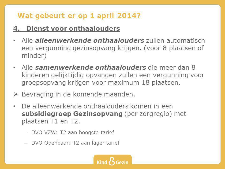 Wat gebeurt er op 1 april 2014 4. Dienst voor onthaalouders