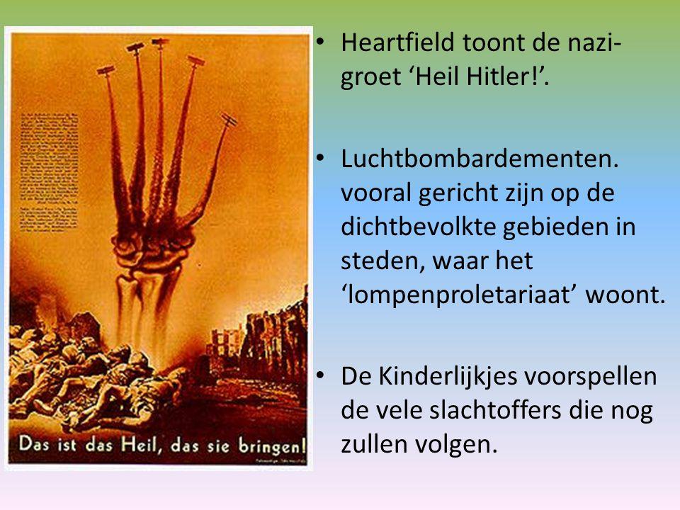 Heartfield toont de nazi-groet 'Heil Hitler!'.
