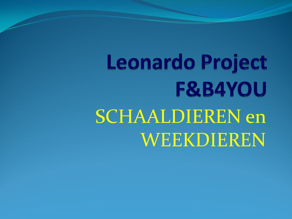 Leonardo Project F&B4YOU