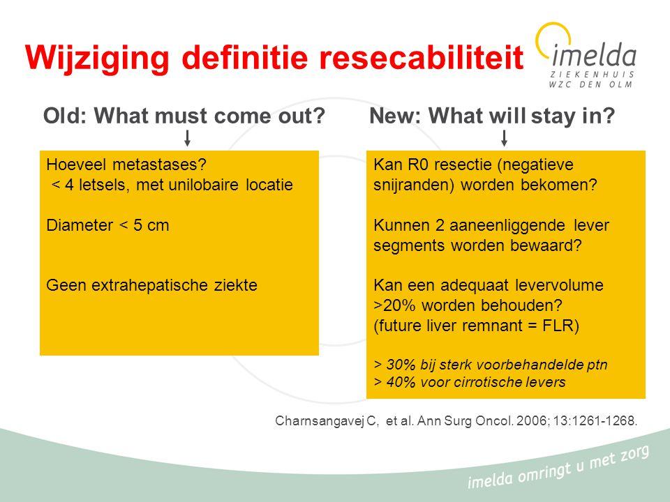 Wijziging definitie resecabiliteit