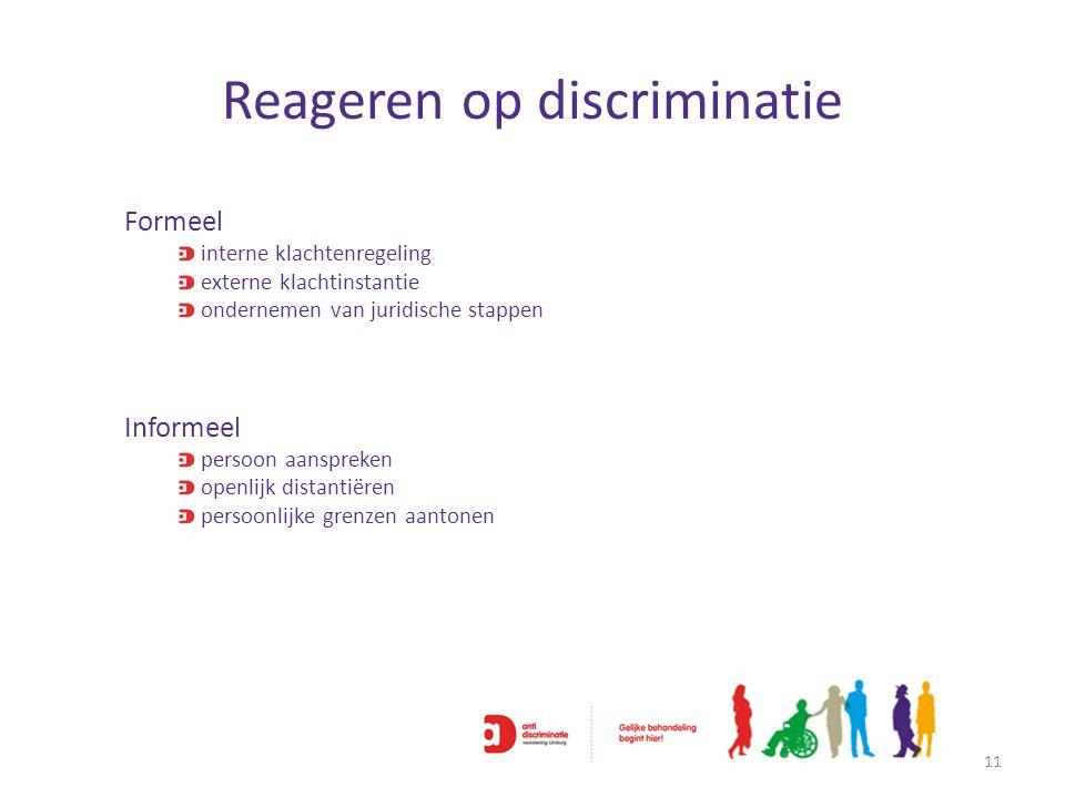 Reageren op discriminatie